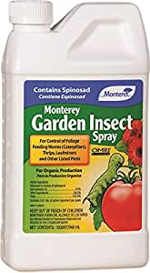 Monterey Garden Insect Spray with Spinosad Concentrate 32oz