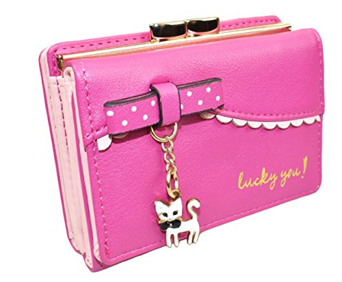 Jadedragon Women Cute Small Wallet Coin Purse Bifold Wallet Card Holder for Teen Girls (Rose) by Jadedragon