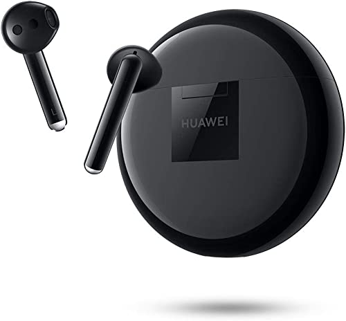 HUAWEI FreeBuds 3 – Wireless Bluetooth Earphone with Intelligent Noise Cancellation Kirin A1 Chipset, Ultra-Low Latency, Fast Bluetooth Connection, 14mm Speaker, Quick Wireless Charging Black