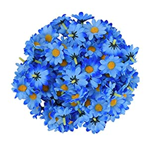 GSD2FF 100pcs/lot 9 Artificial Gerbera Daisy Head Home Wedding Bouquet Party Home Decoration,Darkblue 118