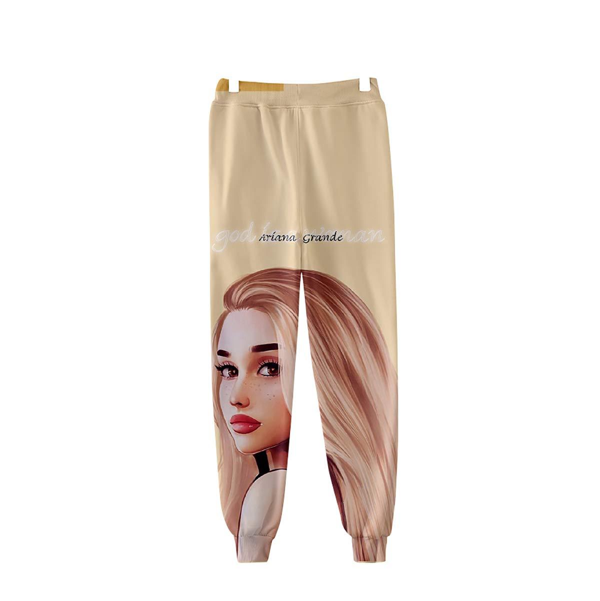 XXS-XXXXL ,A,2XL W/&TT Unisex 3D HD Impreso Ariana/_Grande Pantalones de ch/ándal el/ástico Cintura cord/ón Pantalones pantal/ón para Hombre y Mujer
