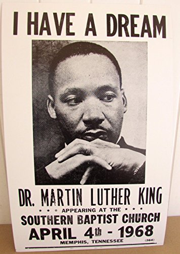 Martin Luther King Poster MLK 1968 Memphis I have a Dream from Unknown