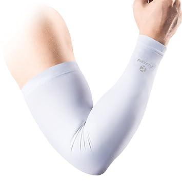 c2f8fb65b3 kuangmi Compression Arm Sleeves (1 Pair) Men Women Youth UV Sun Protection  Basketball Football