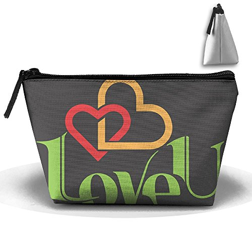 HGUII-O Love You Makeup Bag Cosmetic Pouch Travel Bag With Zipper Closure For Women Girls by HGUII-O (Image #1)