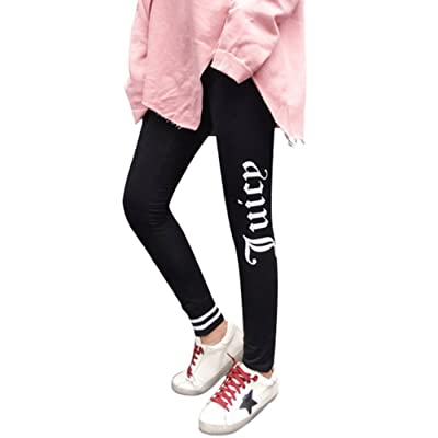 ABCWOO Womens Elastic Waist Printed Stretch Slim Pants Casual Sports Slacks Capris