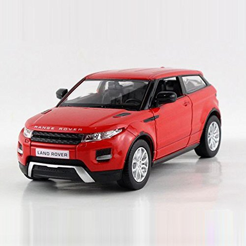 UNI-FORTUNE 5inch Range Rover Land Rover Evoque Diecast Model Car 1/36 Pull Back Toy For Kids Gift Red (Rover Red Range)