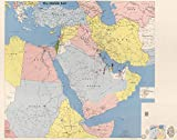 """Map Poster - Franklin's CIA maps of the Middle East : Kuwait Bahrain Qatar United Arab Emirates the Persian Gulf and Iraq / - 24""""x19"""""""
