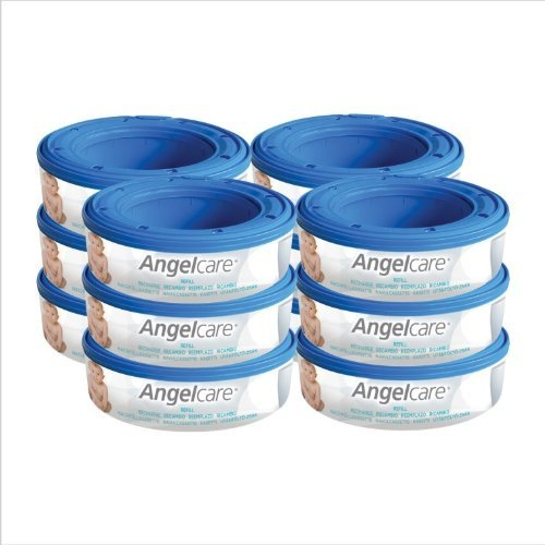 12-x-angelcare-nappy-disposal-system-refill-cassettes-wrappers-bags-sacks-pack-high-quality-product-