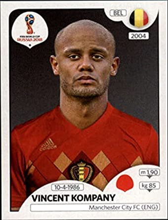 8d44d18d473 2018 Panini World Cup Stickers Russia  518 Vincent Kompany Belgium Soccer  Sticker