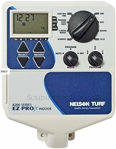 Signature - Programador de riego eléctrico 6 zonas EZ 8200. 3 Programas independientes. 3 Inicios por programa. Tiempo de riego de 1 min. a 6h. Funciona con cualquier electrovalvula de riego eléctrica