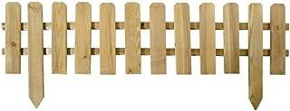 VERDELOOK Recinzione a Listelli Dritti per Esterni, Bassa e Dritta in Pino impregnato, 120x30 cm