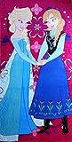 Disney Frozen Sisters Elsa and Anna Beach Bath Towel 100 Percent Cotton 30 x 60