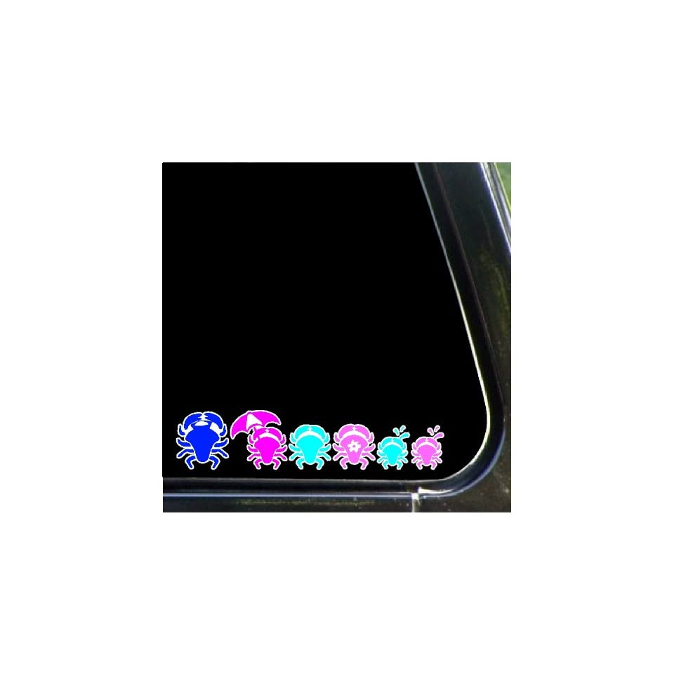 Crab Family Decals Stickers Stick People Family