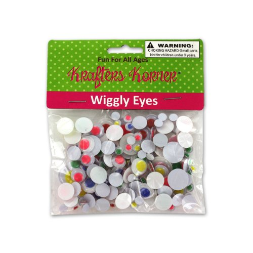 Wiggly Eyes 12/Pack (10 Pack)