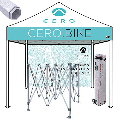 Eurmax Premium 10x10 Ez Pop up Printed Canopy, Trade Show Custom Tent, Event Canopy with Printed Backwall Bonus Roller Bag