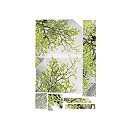 NIHAI Wall Sticker for Kids - Nature Green Leaf Branch Wall Sticker Removable Art Decal Mural Decor Perfect for Kids Nursery Bedroom Living Room Landscaping Decoration