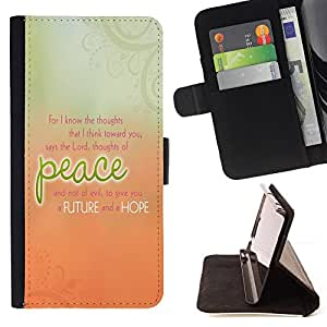 DEVIL CASE - FOR LG G3 - Peace Peach Orange Green Floral Message - Style PU Leather Case Wallet Flip Stand Flap Closure Cover