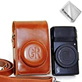 First2savvv PU Premium Quality Leather Camera case Pouch Bag with Shoulder...