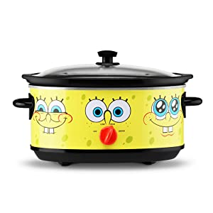 Nickelodeon NKL-71 SpongeBob Slow Cooker, 7 Quart, Yellow