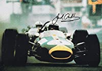 JACK BRABHAM HAND SIGNED 6x8 COLOR PHOTO+COA LEGENDARY FORMULA 1 DRIVER - Autographed Extreme Sports Photos by Sports Memorabilia