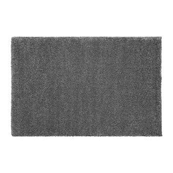 Ikea Adum Langflor Teppich In Grau 170x240cm Amazon De Kuche