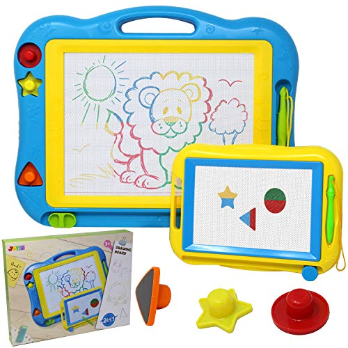2 Magna Doodle Boards with Multi-Colors Drawing Screens, 13