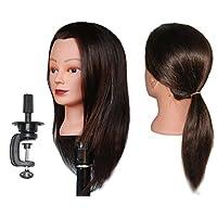 "HairZtar 100% Human Hair 18 "" Mannequin Head Hairdresser Training Head Manikin Cosmetology Doll Head - CASEY +C"
