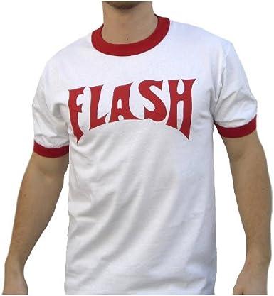 color blanco Camiseta para adulto Flash Gordon Flash Bolt Ringer