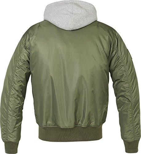 Oliva Giacca Verde Ma1 Sweathood Nero Brandit BXq6wS