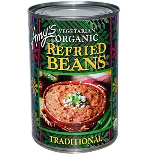 Amy's, Vegetarian Organic Refried Beans, Traditional, 15.4 oz (437 g)