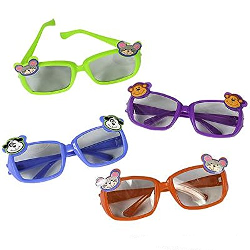 Kiddie Animal Sunglasses, Assorted Styles And Colors. 24 Pieces.