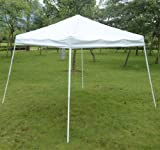 fine gazebo party tent canopy FCH 0'x10' EZ Pop Up Tent Waterproof Outdoor Patio Party Canopy Tent Wedding Outdoor Tent Canopy Heavy duty Gazebo (WHITE)