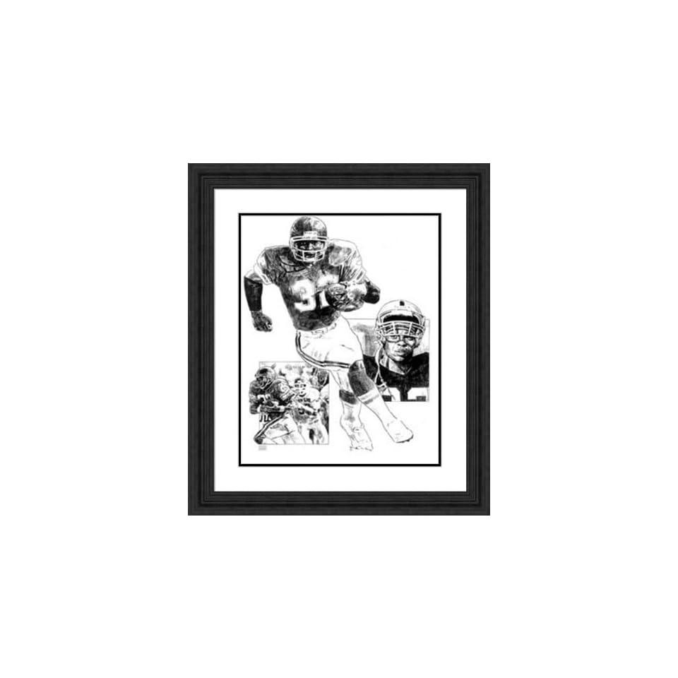 Framed Marcus Allen Kansas City Chiefs   Black Double Mat