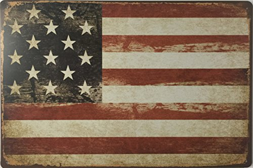 Dehavre American Flag Retro Vintage Tin Metal Pub Restaurant Cafe Garage Den Home Decor Sign 8