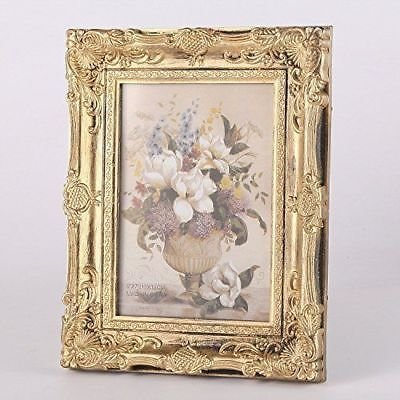 Ornate Metal Frame - CraftbuddyUS Vintage Ornate Baroque Rococo-style Gold Photo Picture Frame-5