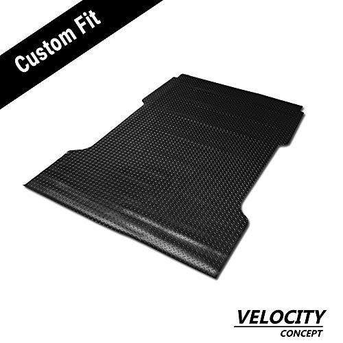 Velocity Concepts Black Finished Flareside 6.5 Ft Short Truck Bed 1997-2003 for Ford F150 / F250 Rubber Diamond Floor Mat Carpet