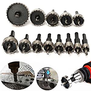 13 Pcs HSS Drill Bit Hole Saw For Stainless High Speed Steel Metal Alloy 16 -53 mm