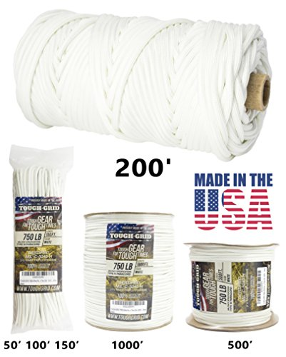 50' White Nylon Rope - 3