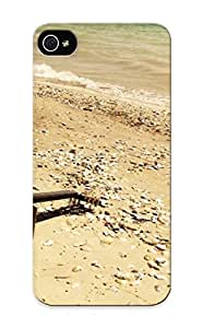 Chistmas' Gift - Cute Appearance Cover/tpu Awcyzc-312-tullmki Guitar On The Beach Case For Iphone 5/5s