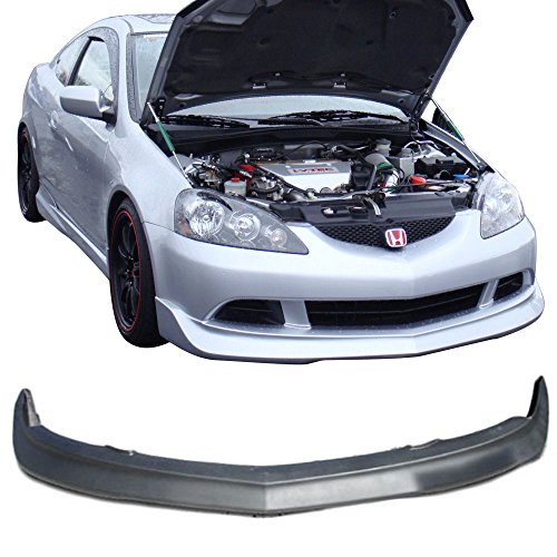 Front Bumper Lip Fits 2005-2006 Acura RSX | Black Poly Urethane Guard Protection Finisher Under Chin Spoiler by IKON MOTORSPORTS