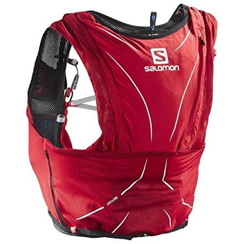Salomon Advanced Skin 12 Litre Set Lightweight Hydration Pack M-L Red//Graphite