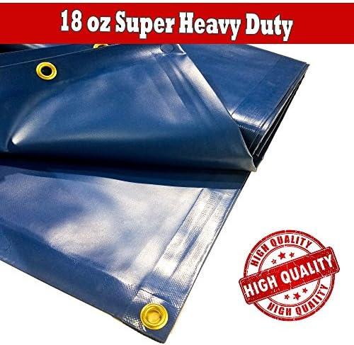Stone Shade & Tarps 18オンス 超高耐久ビニールタープ 10'x25' ブルー