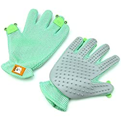 Alfie Pet by Petoga Couture - Malin Bath Massage Glove Brush 2-Piece Set - Color: Green