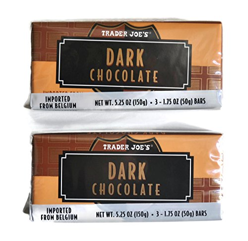 (Trader Joe's Belgian Dark Chocolate Bars, 1.75 oz (2 Packs of 3))