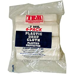 TRM Manufacturing 79126 Weather All Plastic Drop Cloth, 9' x 12' x 0.7 mil (Pack of 6)