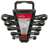Apollo Precision Tools DT1212 SAE Ratcheting Wrench Set, 5-Piece