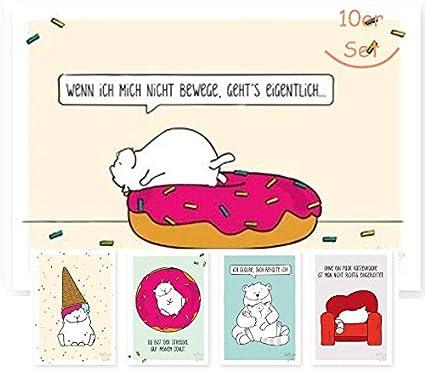 10 Er Set Lustige Postkarten Lustige Geburstagskarten