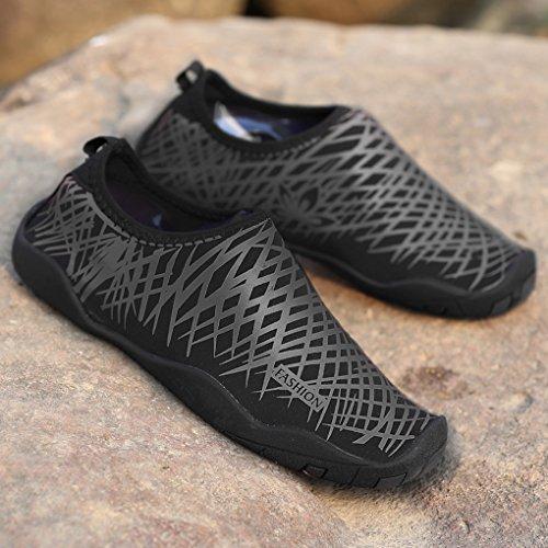 Wading Shoes Sneaker Black Aqua Beach Outdoor Sport Fishing Krastal Camping Water gwTq65nAx