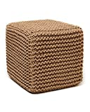 Anji Mountain AMB0001-1818 Square Jute Pouf, Natural, 18 x 18-Inch