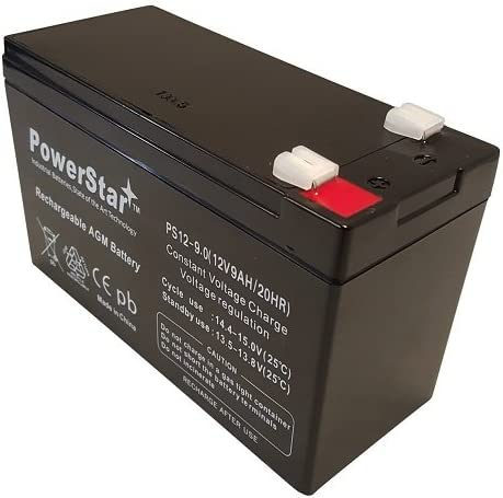 PowerStar 12V 9AH High Capacity SLA Battery Replaces ep1234w 2PK